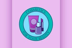 Cosmetics label for design Product Image 1