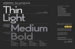 Cosmopolis - Sans serif font family Product Image 3