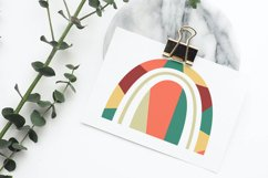 Abstract geometric rainbow in the style of boho Product Image 4