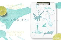 Watercolour Splatter Photoshop Brushes Product Image 4