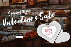 Valentine Dinner - WEB FONT Product Image 2