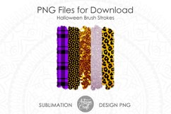Brush stroke PNG, Halloween sublimation, Leopard Print Product Image 5