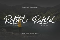 Rafttel Script Font Product Image 2