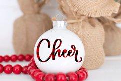 Christmas Ornament Sublimation Design Bundle Handlettered Product Image 5