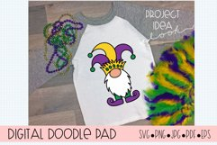 Mardi Gras Gnomes SVG Cut Files for Cricut and Silhouette Product Image 5