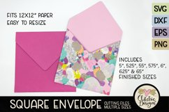 Square Envelope SVG - Square Envelope SVG Cutting File Product Image 4