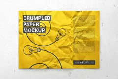 Crumpled A4 Paper / Poster / Flyer Mockup Product Image 2
