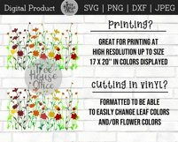 Wildflower Floral Botanical Hand Drawn SVG PNG JPG DXF Product Image 4