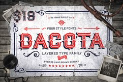 Dacota Layered Typeface & Extras Product Image 1