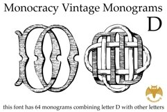 Monocracy Vintage Monograms Pack DB Product Image 5