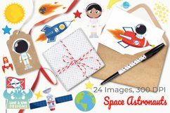 Space Astronauts Clipart, Instant Download Vector Art Product Image 4