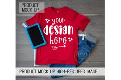 Kids Red Shirt Mock up Product Mock Up Product Image 1