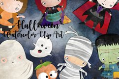 Watercolor Halloween clipart. Clipart digital party costume. Product Image 1