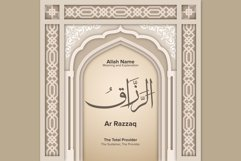 Ar Razzaq Meaning and Explanation Design Product Image 1