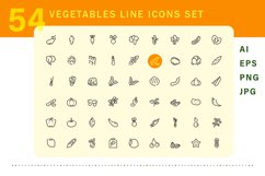 Vegetable icons set Product Image 2