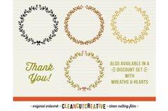 FLORAL MEGA BUNDLE 30 wreath, laurel, heart leaf frames SVG Product Image 6