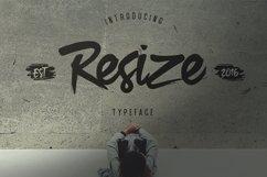 Resize Typeface Product Image 1
