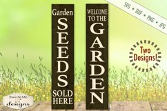 Garden Seeds Vertical Porch Sign SVG DXF Files Product Image 1