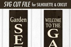 Garden Seeds Vertical Porch Sign SVG DXF Files Product Image 3