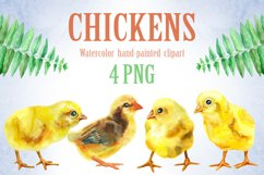 Watercolor yellow chickens Product Image 1