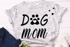 Dog mom cut file, dog mama svg, dog paw print svg, dog lover Product Image 3