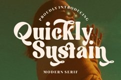 Quickly Sustain Modern Serif Product Image 1