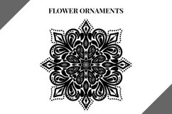 Flower Ornaments svg file, svg bundle, mandala flowers Product Image 3