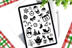 Procreate Brush stamp, Christmas Element Stamps Product Image 5