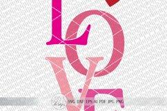 LOVE svg   Valentine's Day SVG   Modern Farmhouse Sign   dxf Product Image 3