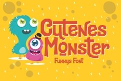 Cutenes Monster - Funny Font Product Image 1