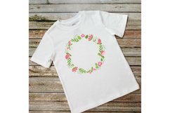 Flower Wreath PNG. Wreath Flower Pink. Sublimation Flowers Product Image 3