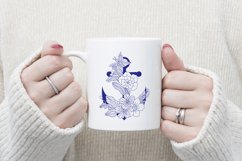 Anchor with doodle flowers Product Image 3
