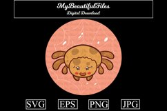 Spider SVG - Cartoon Animal SVG, EPS, PNG and JPG Product Image 1