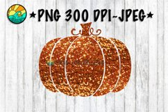 Pumpkin - Glitter - Orange - PNG for Sublimation & JPEG Product Image 1
