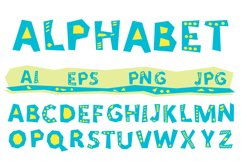 Vector alphabet, A to Z  blue letters Product Image 1