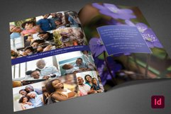 Blue Navy Funeral Program InDesign Template Product Image 3