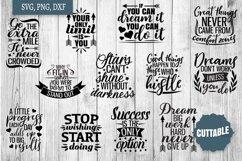 Motivational SVG bundle, Inspirational quote cut file bundle Product Image 1