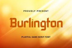 Burlington - Playful Sans Serif Font Product Image 1