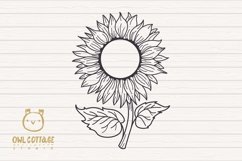 Sunflower Monograms svg, Sunflower mini bundle, Sunflower cl Product Image 5