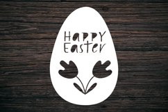 Happy Easter SVG. Egg Paper Cut SVG.Papercut Easter.Easy SVG Product Image 3