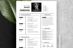 Clean Editable Resume Cv Template in Word Apple Pages Product Image 4