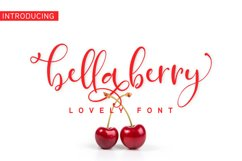 BellaBerry Lovely Script Font Product Image 1
