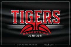 Tiger, Tiger Basketball, Tiger SVG, Tiger Basketball SVG Product Image 1