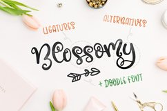 Blossomy - Font Duo Floral Doodles Product Image 2
