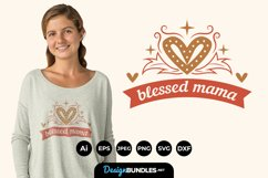 Blessed Mama Hand Drawn Lettering SVG Product Image 1