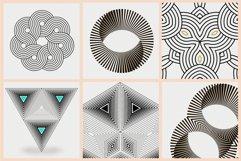 Illusion linear geometric shapes. Ai/SVG/PNG Product Image 5