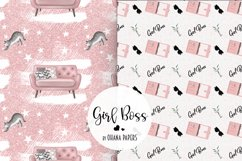 GIRL BOSS Digital Paper Pack - Fashion Illustration Patterns Product Image 7