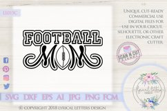 Football Mom SVG DXF Cut File LL015C Product Image 1