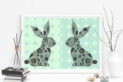 Cute floral Easter bunny. Product Image 5