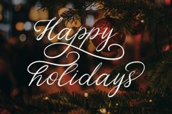 Christmas Eve. Holiday Script font. Product Image 10